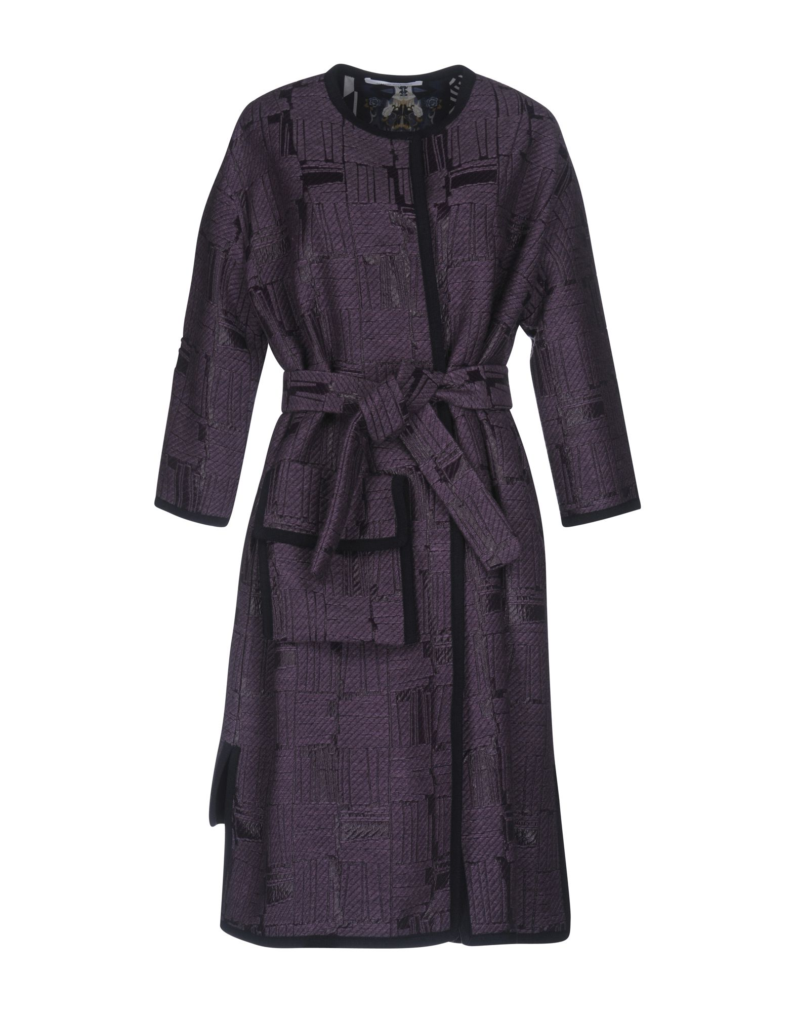 LORENZA PAMBIANCO Belted Coats in Light Purple
