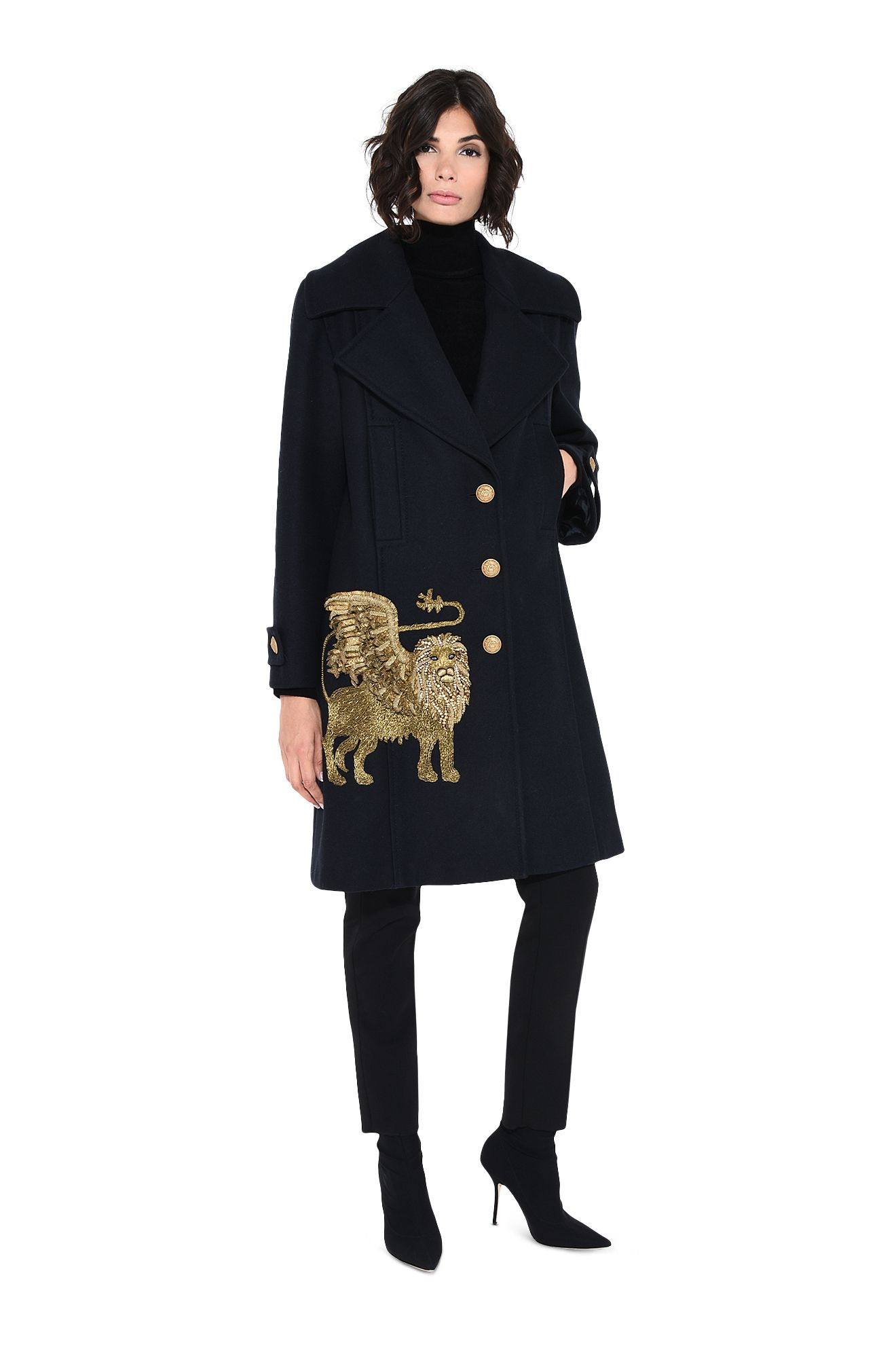 Coat with winged lion