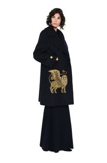 ALBERTA FERRETTI Coat with winged lion Coat Woman a