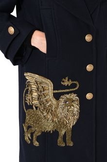 ALBERTA FERRETTI Coat with winged lion Coat D e