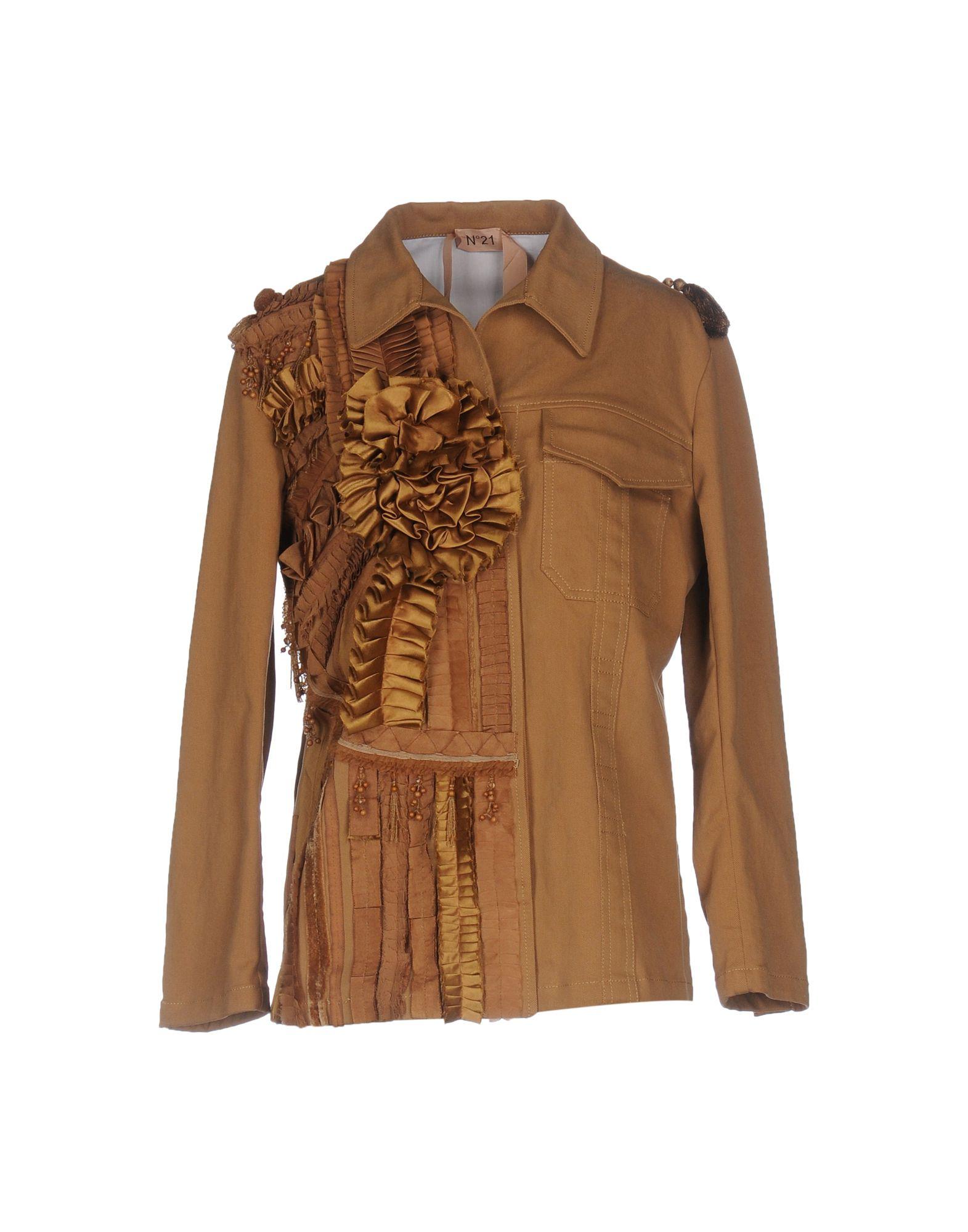 N° 21 Damen Jacke Farbe Khaki Größe 4