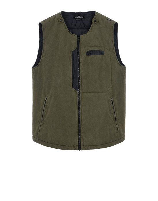STONE ISLAND SHADOW PROJECT Vest G0112 PADDED VEST WITH DROP POCKET (TELA 50 FILI 2L) 2 LAYER FABRIC - GARMENT DYED WITH ANTI-DROP AGENT - WIND AND WATER-RESISTANT - BREATHABLE