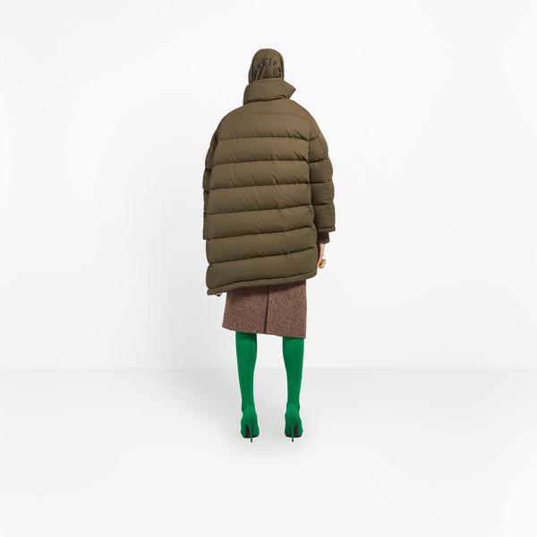 BALENCIAGA Coats Woman Pulled Puffer Jacket h