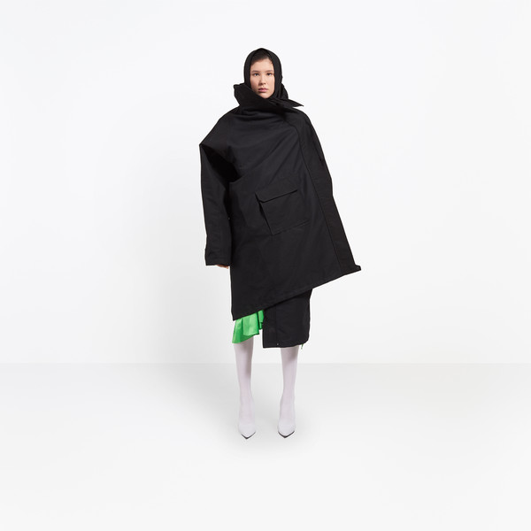 BALENCIAGA Coats D Pulled Raincoat g