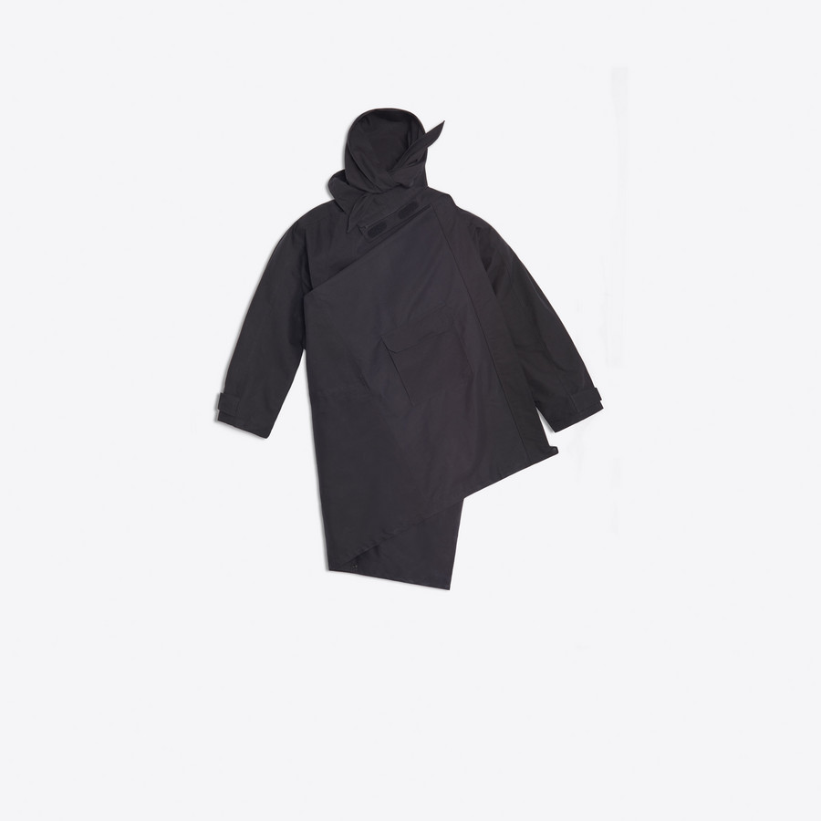 BALENCIAGA Pulled Raincoat Coats D f