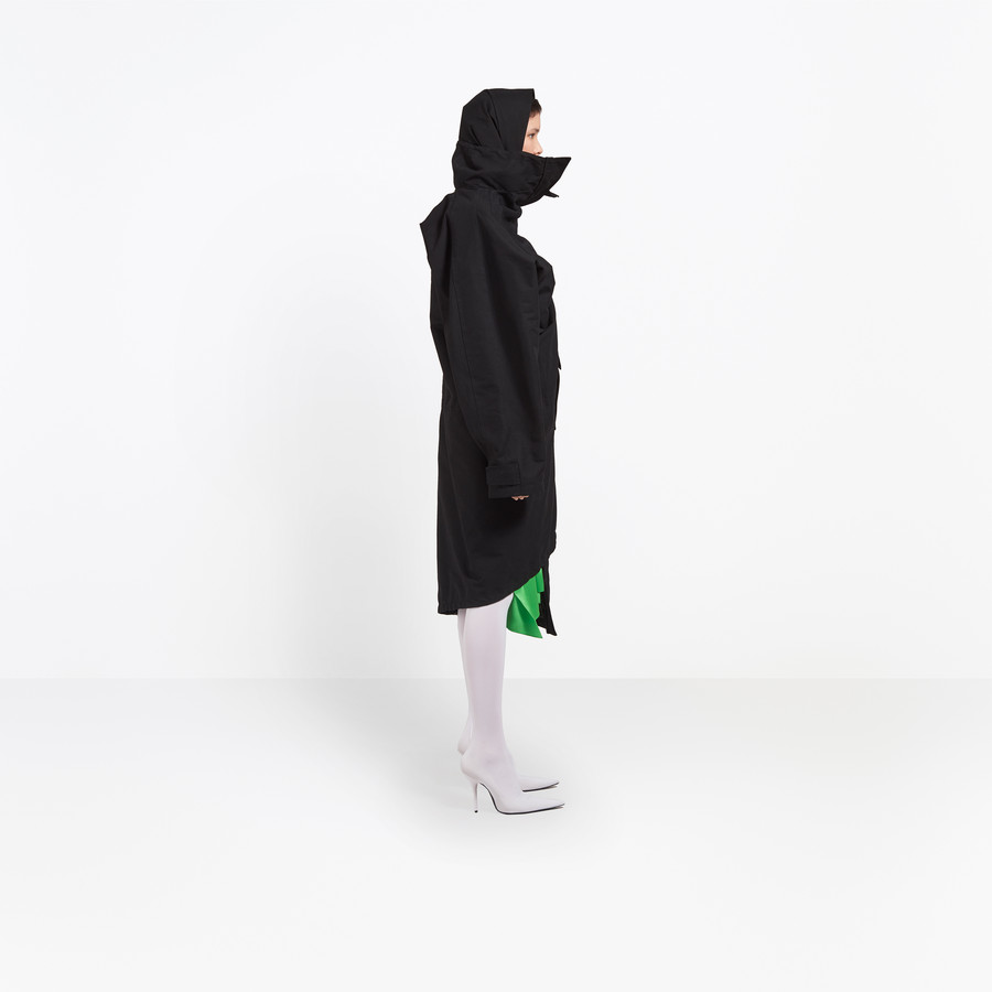 BALENCIAGA Pulled Raincoat Coats D i