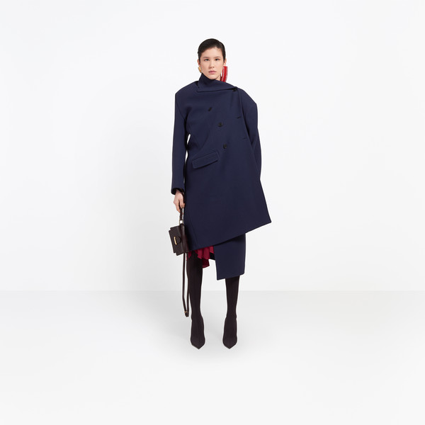 BALENCIAGA Coats Woman Pulled Double Breasted Coat g