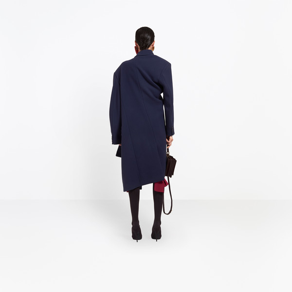 BALENCIAGA Coats Woman Pulled Double Breasted Coat h