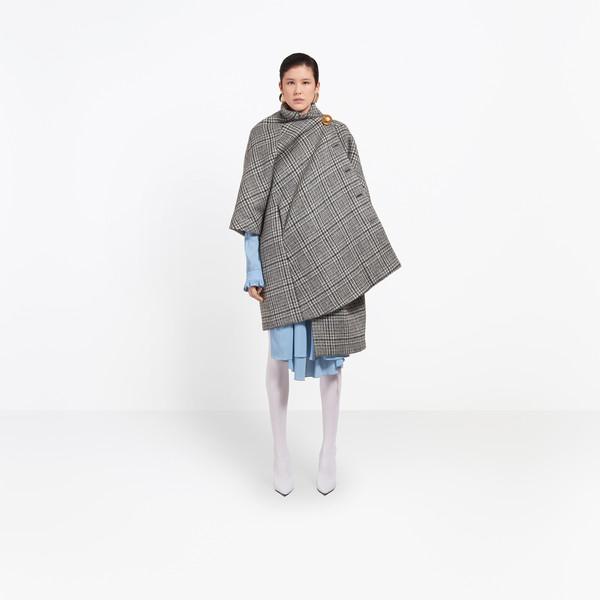 BALENCIAGA Coats Woman Pulled Opera Coat g