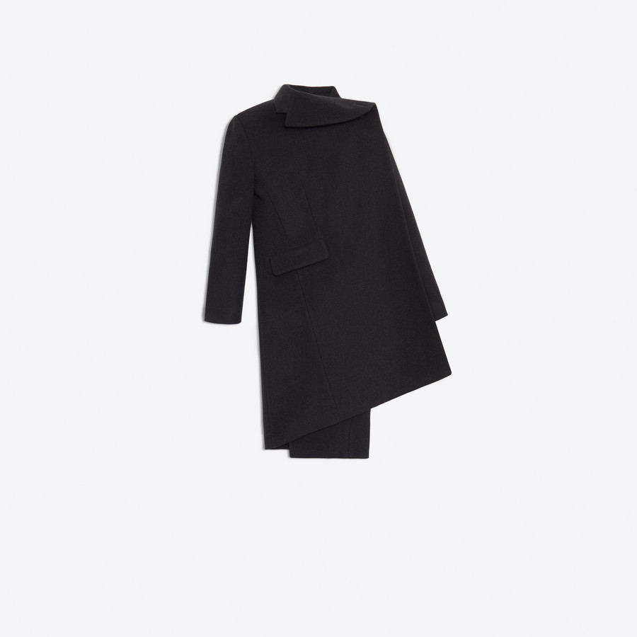 BALENCIAGA Pulled Tube Coat Coats Woman f