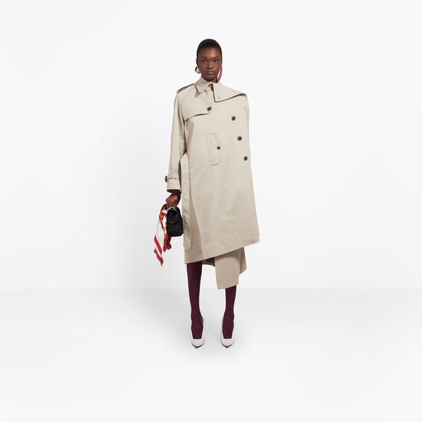 BALENCIAGA Coats Woman Pulled Trench g