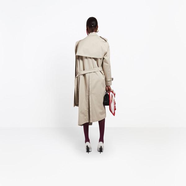 BALENCIAGA Coats Woman Pulled Trench h