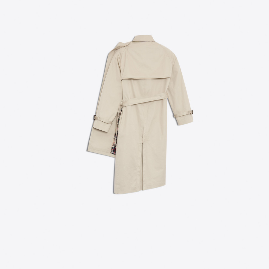 BALENCIAGA Pulled Trench Coats Woman d