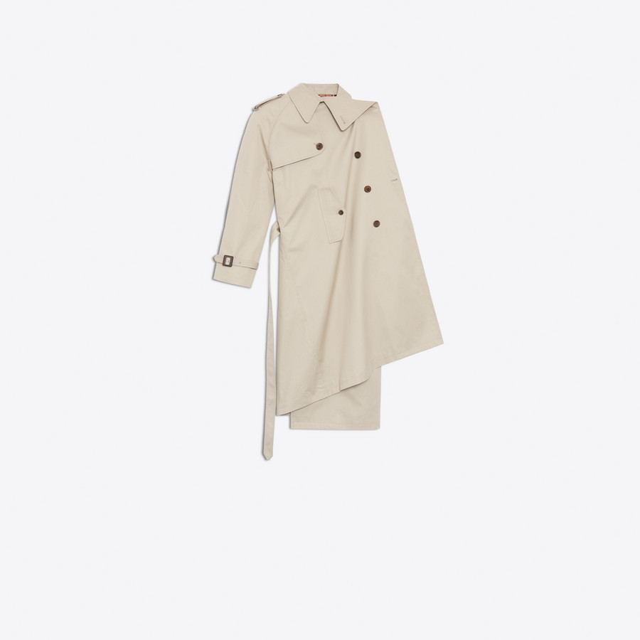 BALENCIAGA Pulled Trench Coats Woman f