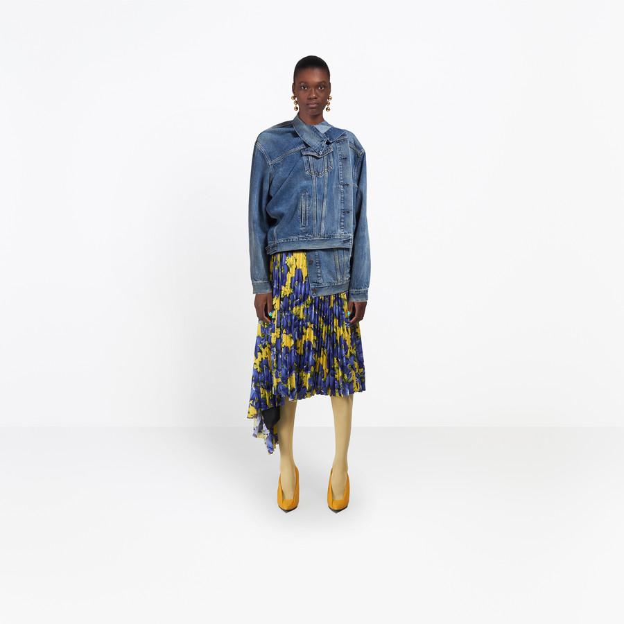 BALENCIAGA Pulled Denim Jacket Denim Woman g