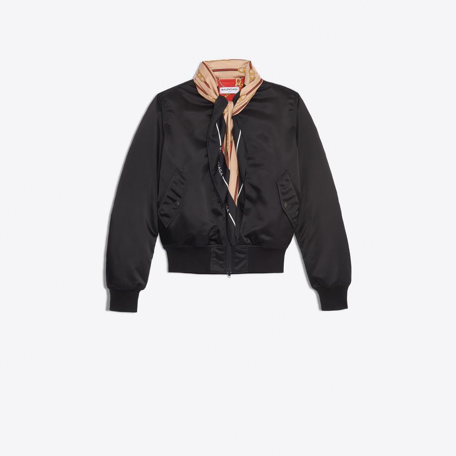 BALENCIAGA Scarf Bomber Jacket Woman f