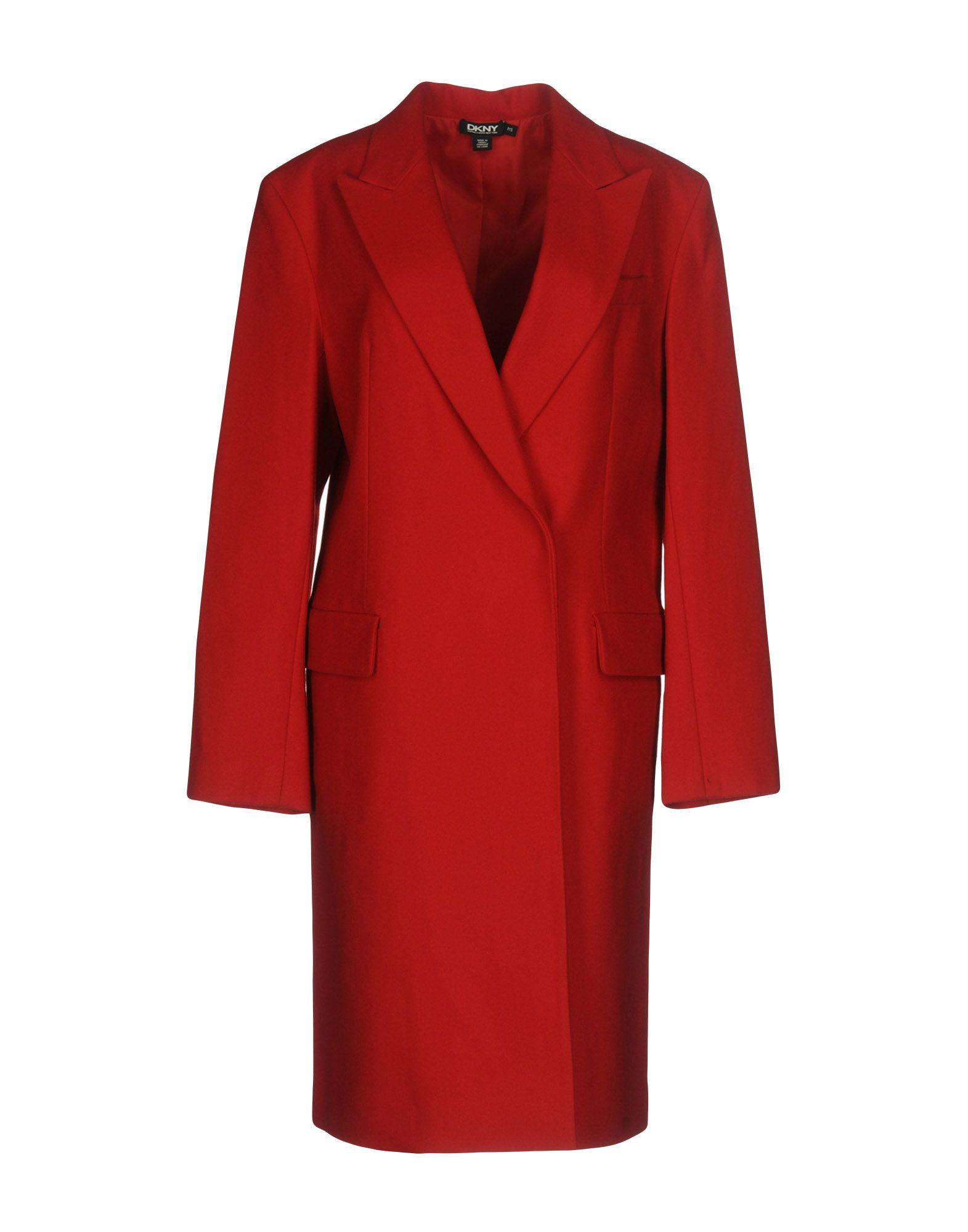DKNY Damen Mantel Farbe Rot Größe 5