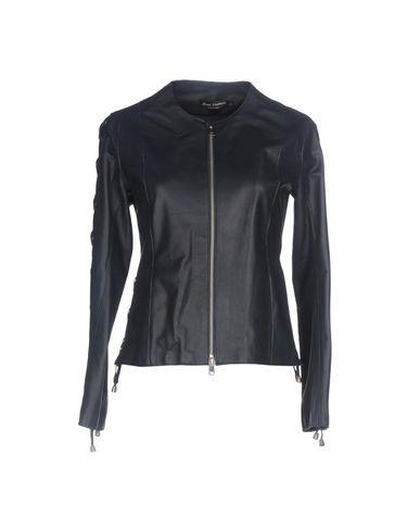 Фото - Женскую куртку STREET LEATHERS темно-синего цвета