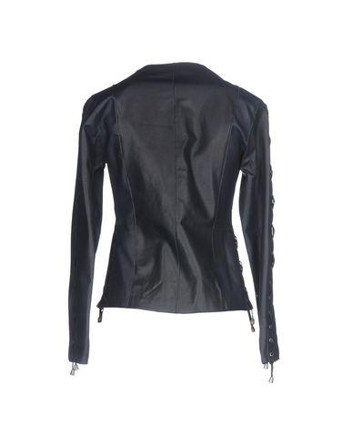 Фото 2 - Женскую куртку STREET LEATHERS темно-синего цвета