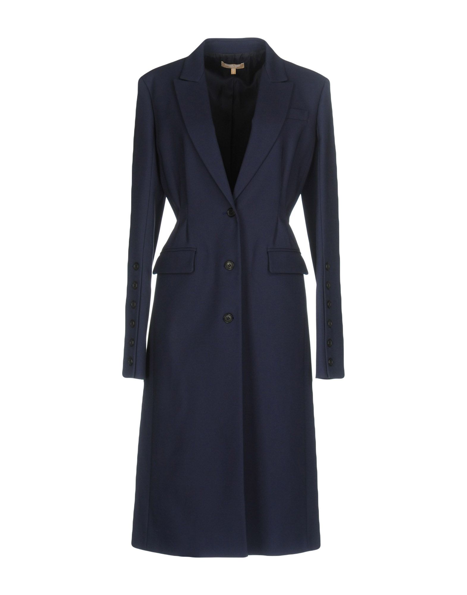 MICHAEL KORS COLLECTION Damen Lange Jacke Farbe Blau Größe 2