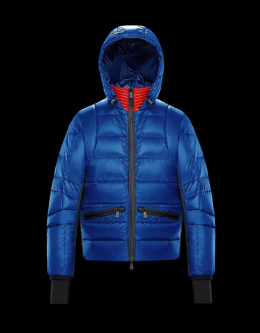 MOUTHE Slate blue Down Jackets Man