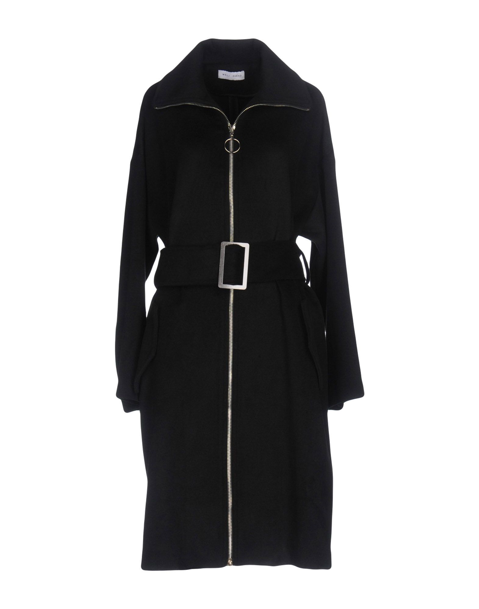 WEILI ZHENG Belted Coats in Black