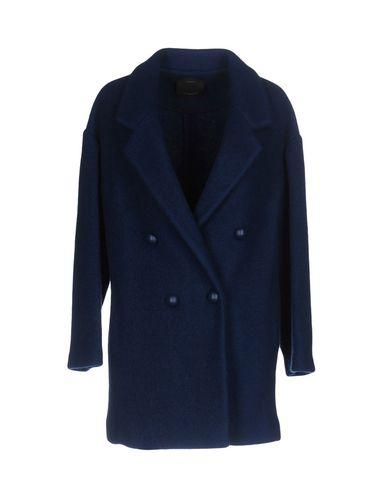 Купить Женское пальто или плащ  синего цвета