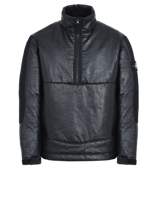 STONE ISLAND ANORAK IN PELLE 00292 FEATHERWEIGHT LEATHER WITH PRIMALOFT® INSULATION TECHNOLOGY