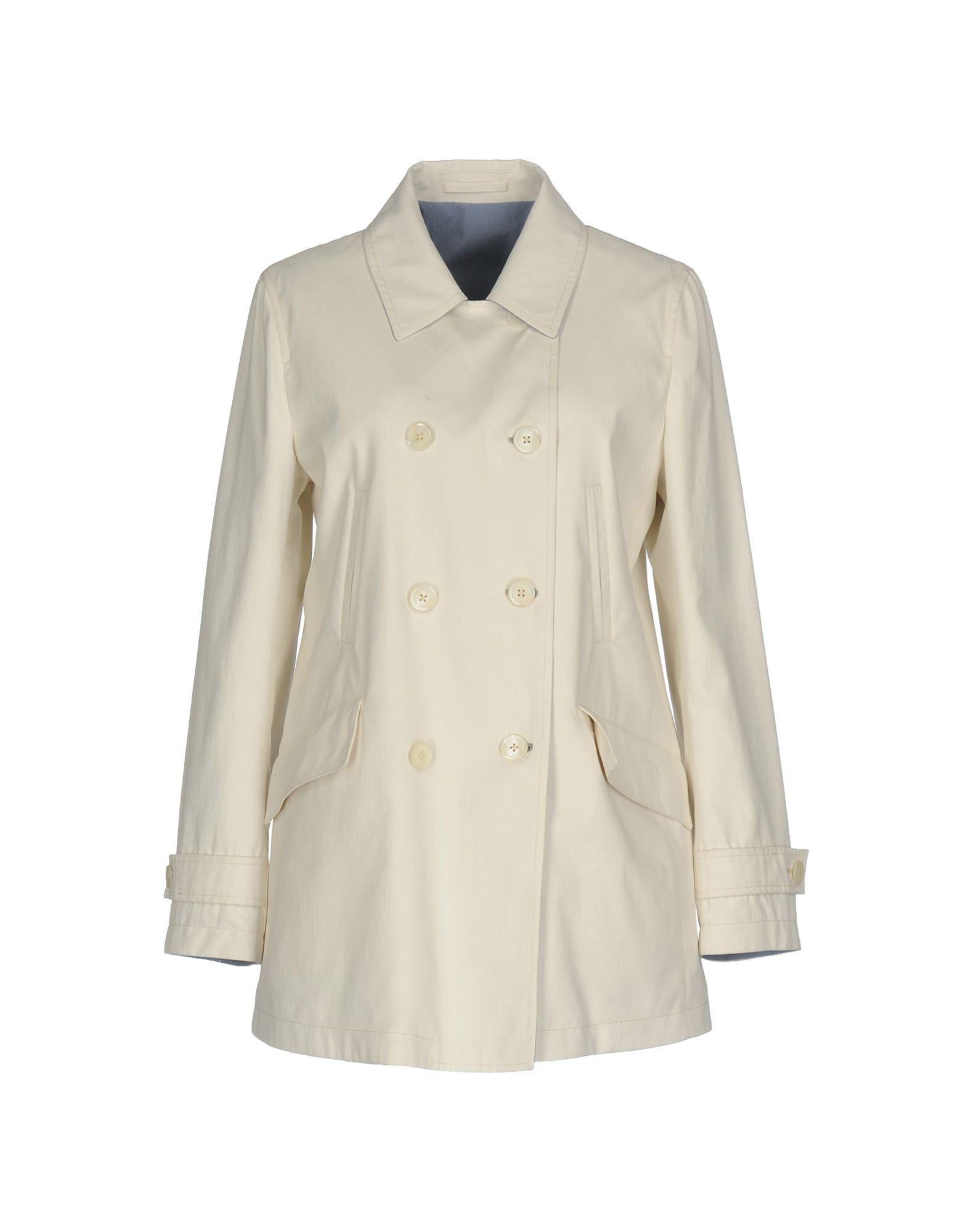 RVR LARDINI Double Breasted Pea Coat in White