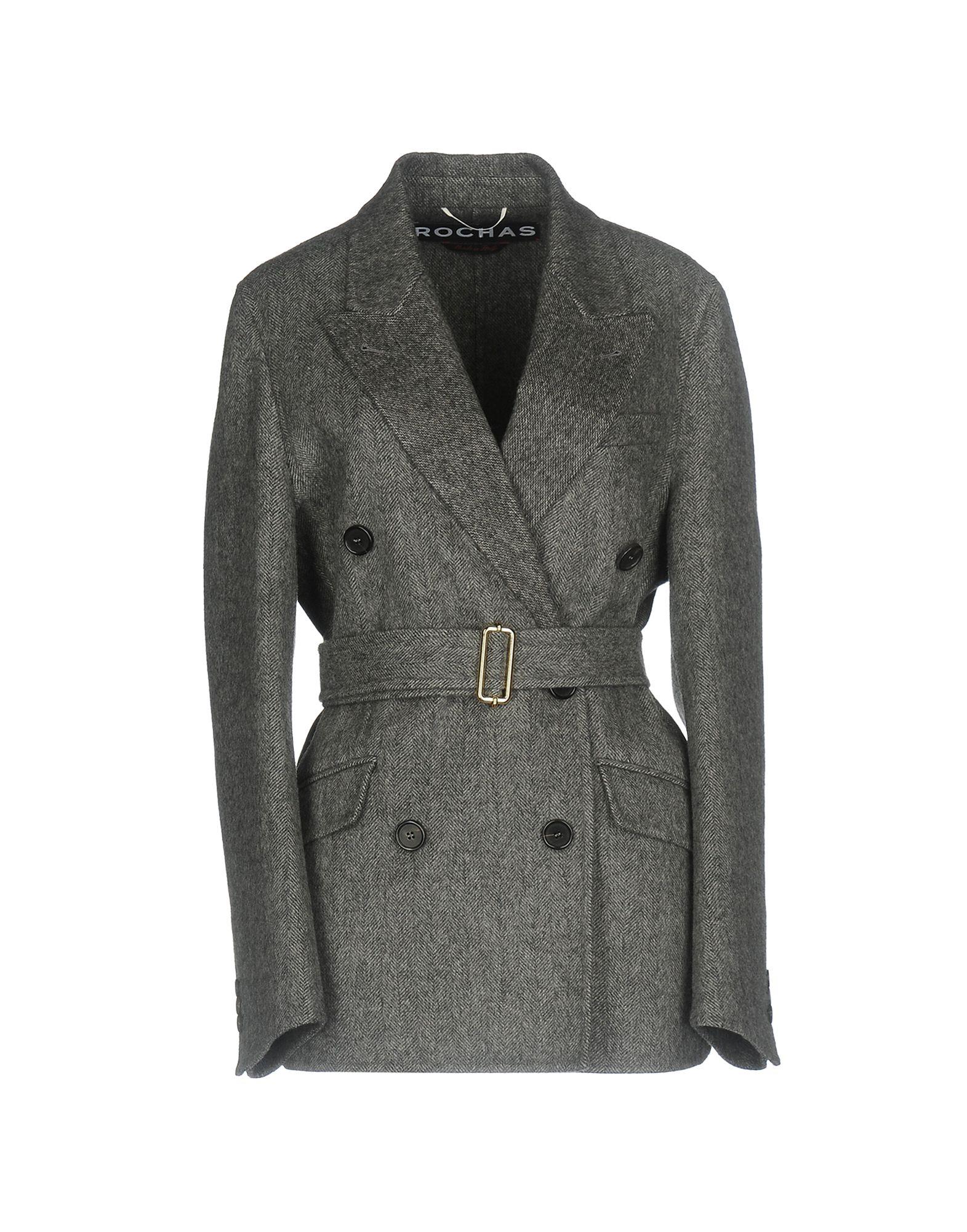 ROCHAS Пальто 2016 осенью дамы сукно slim шерстяные пальто в длинные пальто