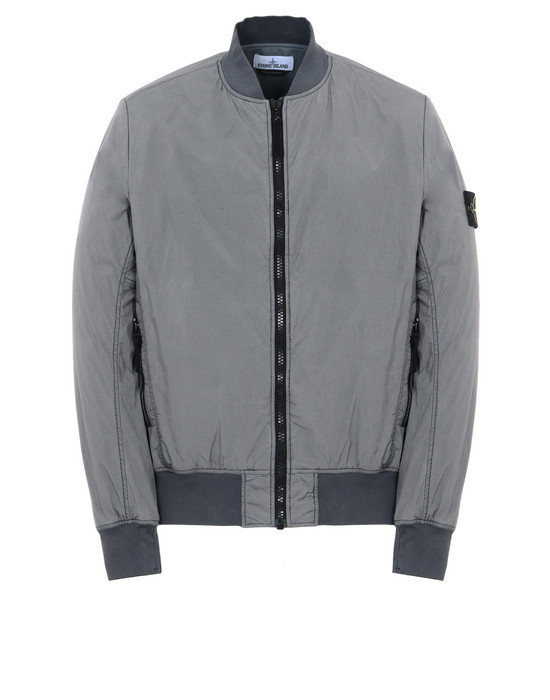 LIGHTWEIGHT JACKET Q0223 GARMENT DYED CRINKLE REPS NY  STONE ISLAND - 0