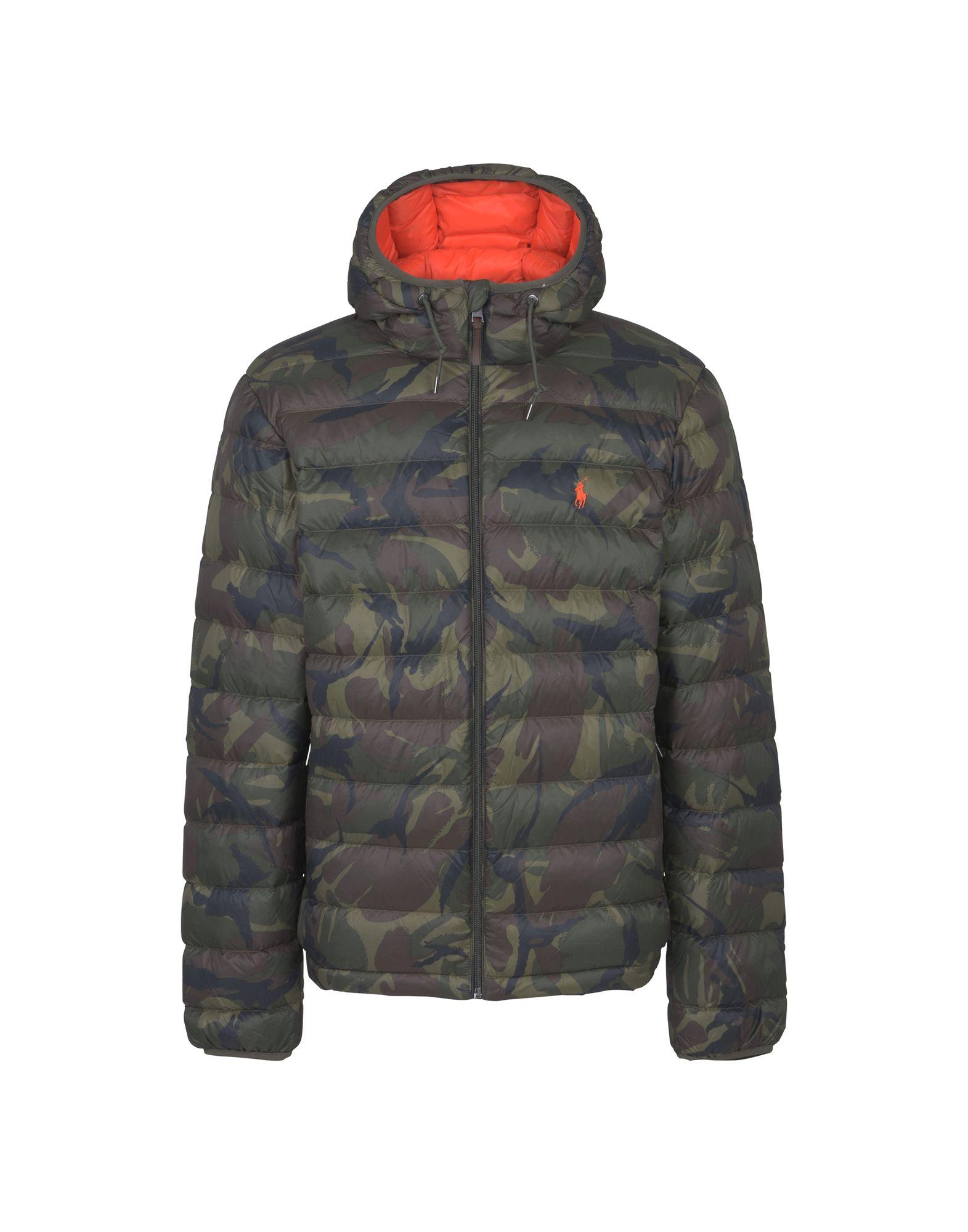 《セール開催中》POLO RALPH LAUREN メンズ ダウンジャケット ミリタリーグリーン M ナイロン 100% Packable Hooded Down Jacket