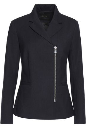 MAJE Victor zip-detailed stretch-wool jacket
