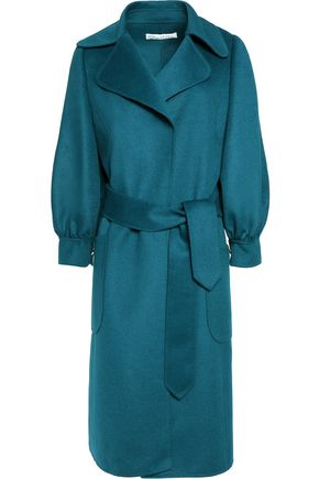 OSCAR DE LA RENTA Double-faced wool, angora and cashgora-blend coat