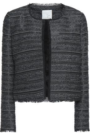 JOIE Fringe-trimmed bouclé jacket