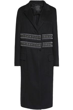 AGNONA Embellished cashmere coat