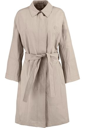 VINCE. Belted cotton-blend gabardine trench coat