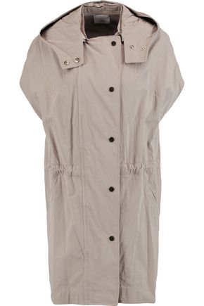 VINCE. Cotton-blend gabardine hooded jacket