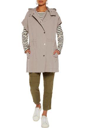 VINCE. Cotton-blend gabardine hooded jacket