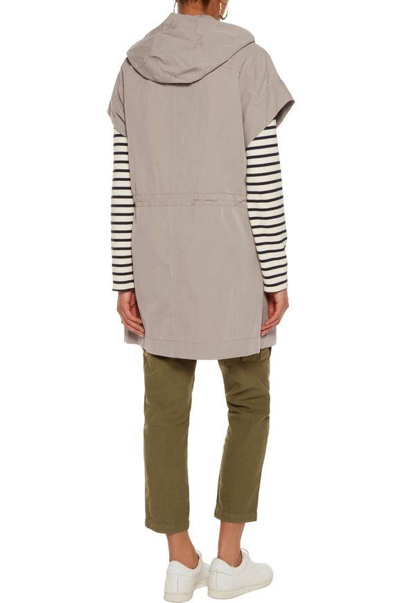 Hooded cotton-blend gabardine jacket | VINCE. | Sale up to 70% off | THE  OUTNET