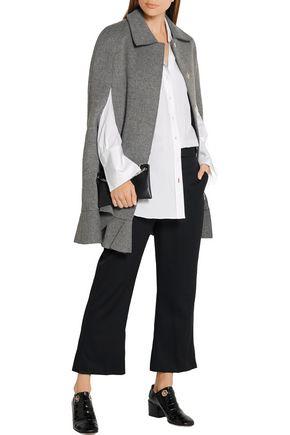 GOEN.J Ruffled wool-blend cape