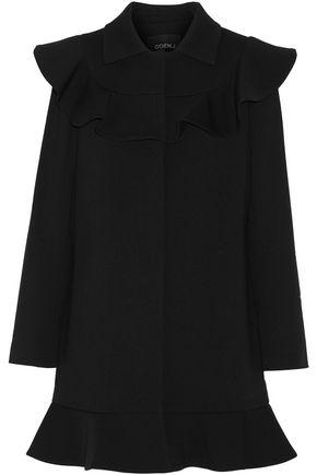 GOEN.J Ruffled wool-blend coat