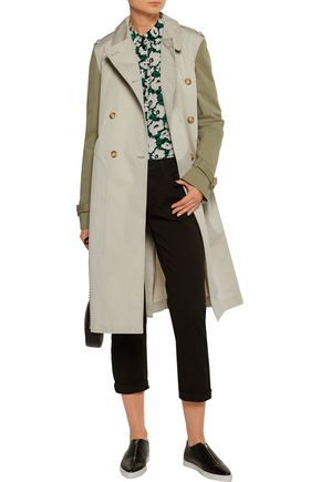 STELLA McCARTNEY Tanya two-tone cotton-blend gabardine trench coat