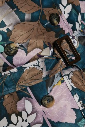 REDValentino Printed satin-twill trench coat