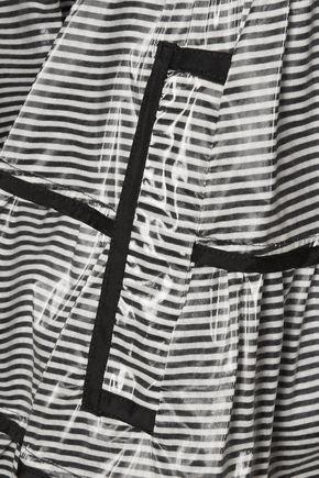 REDValentino REDValentino coated striped modal-blend trench coat