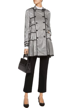 REDValentino REDValentino coated striped modal-blend trench coat