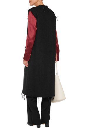 MAISON MARGIELA Frayed brushed alpaca-blend vest