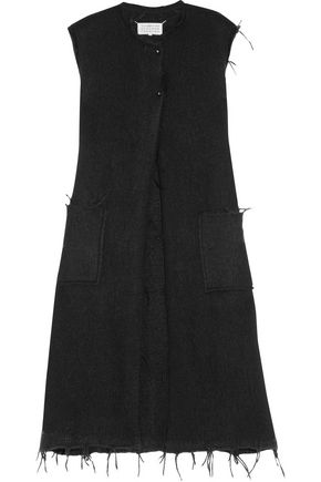 MAISON MARGIELA Frayed brushed alpaca-blend vest