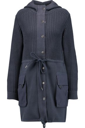 MARC BY MARC JACOBS Knitted cotton and silk-blend hooded coat