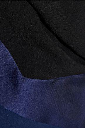 ANTONIO BERARDI Satin-trimmed stretch-crepe coat